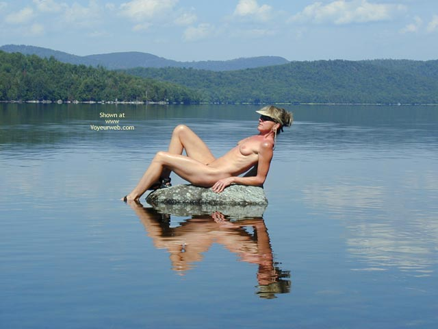 Pic #1 - Sitting On Rock - Milf, Nude In Nature, Water , Sitting On Rock, Naked At A Lake, Nude Reclining In Nature, Outdoors In Water, Milf, Nude At Lake