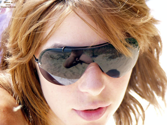 Pic #1 - Photographer Reflection In Sunglasses - Brown Hair, Red Hair, Sunglasses, Naked Girl, Nude Amateur , Male Nude, Face Of Woman Wearing Sunglasses, Reflection, Naked Photog Reflection, Red Lips, Dick Reflection In Glasses