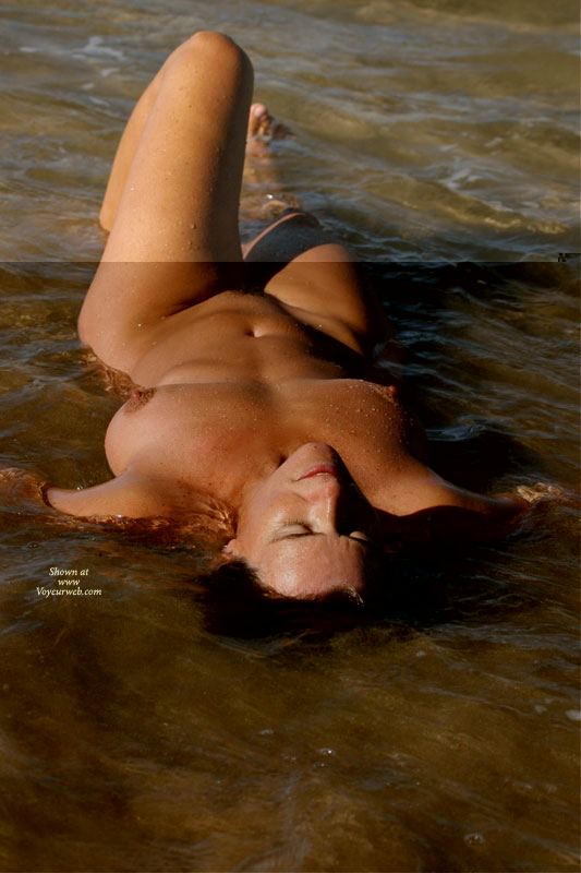 Naked Relaxing In The Water - Erect Nipples, Large Breasts, Milf, Naked Girl, Nude Amateur , Nude From Head To Toe, Nude Milf, Large Natural Breasts, Sexy Curves In The Water, Natural Bush, Nude Milf In Water, Naked In The Water, On Back In Water