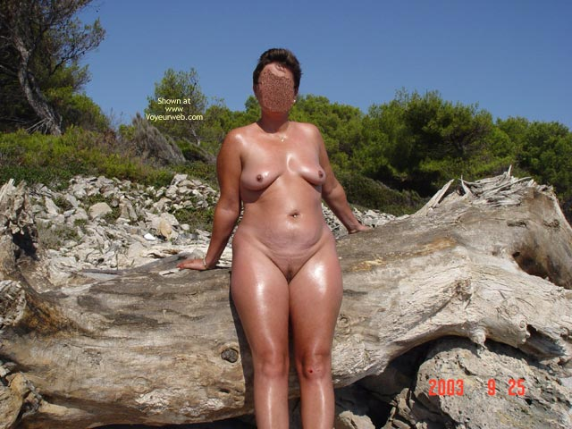 Pic #7 - Renata On Rocky Croatian Beaches