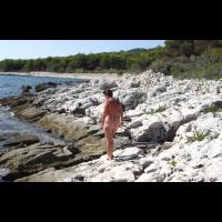 Renata On Rocky Croatian Beaches