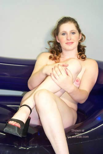Pic #5 - Lauryn On The Purple Plastic Couch