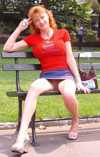 Pic #8 - Sandy Redhead Flashing In New York