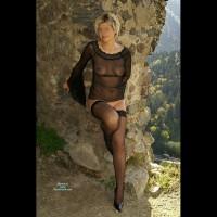 Black See Through & Stockings - Heels, Stockings, Naked Girl, Nude Amateur