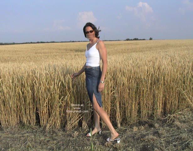 Pic #1 - Farmer's Wife Goes to Wheat Field