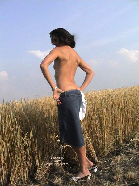 Pic #3 - Farmer's Wife Goes to Wheat Field