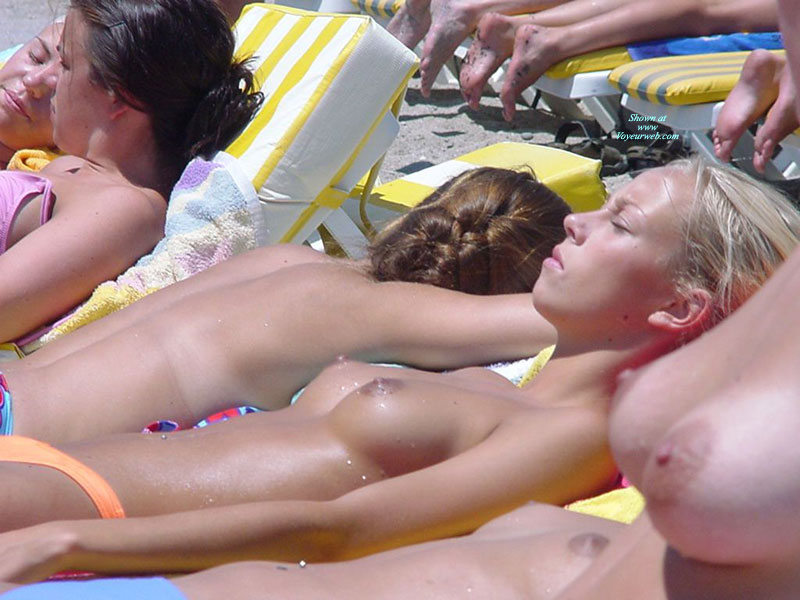 Pic #1 - Candid Tits On The Beach - Topless Beach, Topless, Beach Tits, Beach Voyeur , Multiple Topless Women, Topless Girls On The Beach, Topless Sunbathing Girl, Topless Sunbathing, Cute Topless Girl