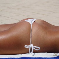 White Tied String Bikini - Tan Lines