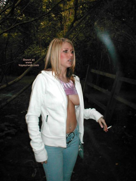 Pic #5 - Huge Cleavage In The Woods