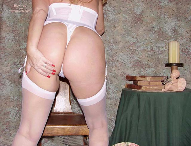 Pic #3 - Sara in White Stockings & Heels!