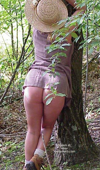 Pic #3 - Sara Getting Naughty in The Woods