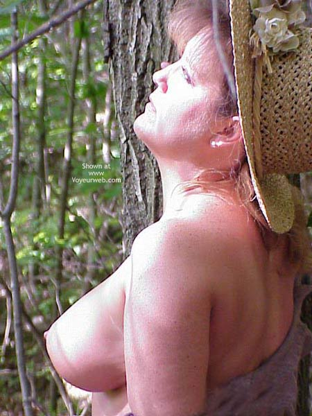 Pic #8 - Sara Getting Naughty in The Woods