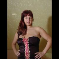 Anja Posing In Stockings 3