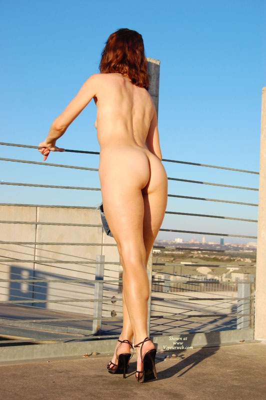 Pic #1 - Nude Milf Ass And Legs In High Heels - Heels, Milf, Red Hair, Naked Girl, Nude Amateur , Outdoor Full Body Shot, Nude Parking Garage, Nude Outdoors, Black Ankle Strap Stiletto Heels, Urban Landscape, Nude In Heels, Naked Outdoors, Redhead, Stand On Heels, Sharp Heels, Muscular Legs