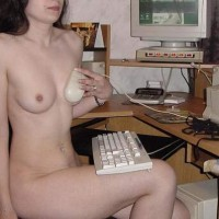 BostonHoney at The Computer