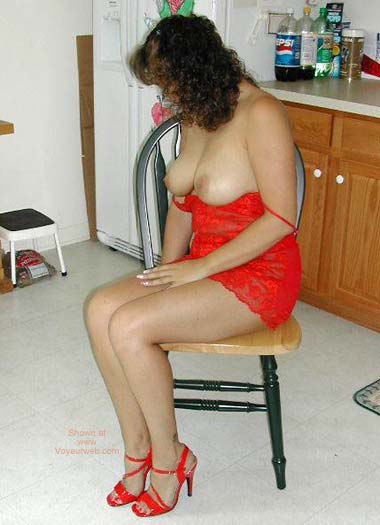 Pic #4 - Opal's 2nd Fiery in Red Lace & Heels