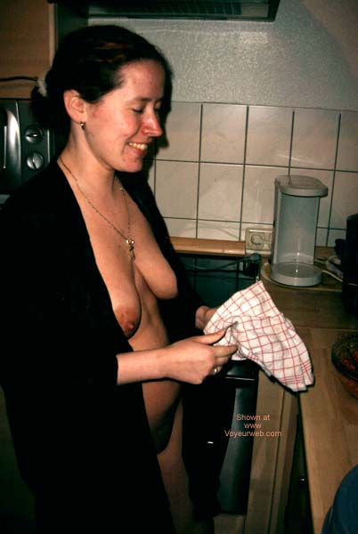 Pic #2 - German Girl in The Kitchen!