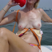 Libby On The Boat