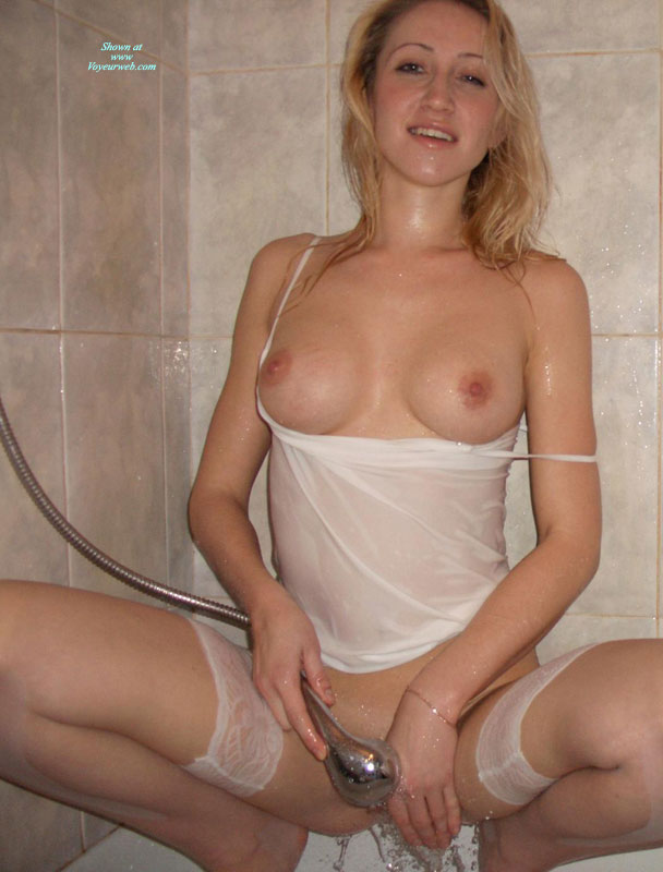 Pic #1 - Blonde Wearing A Wet White T-shirt In The Shower Pulled Down - Blonde Hair, Perky Tits, Naked Girl, Nude Amateur , Wet Camisole And Thigh Highs, Water Masturbation In The Shower, Pink Nipples, White Half Slip And Garters, Squatting In The Shower With Boobs Out, Blonde Semi Nude In A Shower, Lonb Blonde Hair, Thin Silver Bracelet, Wet White Tank Top, White Wet T-shirt, White Stockings, Wet T-shirt And Stockings In The Shower, Taking A Shower, Washing Pussy With A Showerhead