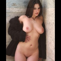Sexy Brunette - Brunette Hair, Huge Tits, Large Aerolas, Large Breasts, Long Hair, Shaved Pussy , Naked Outside, Large Natural Breasts, Smooth Body, Standing, Perfect Body, Nice Natural Boobs, Nice Huge Tits, Standing By A Wall