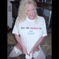 Nasty Ashley In Her Vw Wet Tee Shirt!