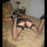 Black Fishnet Thigh High