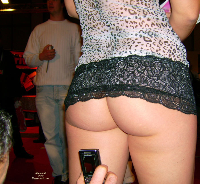Pic #1 - Close Up Of Camera Phone Ass Shot - Flashing, Round Ass , Nice Round Ass, Camera Phone Ass, Photo Taking Of Standing Ass Shot, Black Lace Trimmed Leopard Spot Top, Public Flashing, Standing Ass Shot, Bare Ass In Bar, Ass Exposed In Public Place, Showing Off Her Bum In Public, Standing Girl With Bare Ass Holding Books, Flashing Ass In Public, Standing Showing Rear, Upskirt Ass Shot With Skirt Pulled Up, Sweet Cheeks In Club Scene