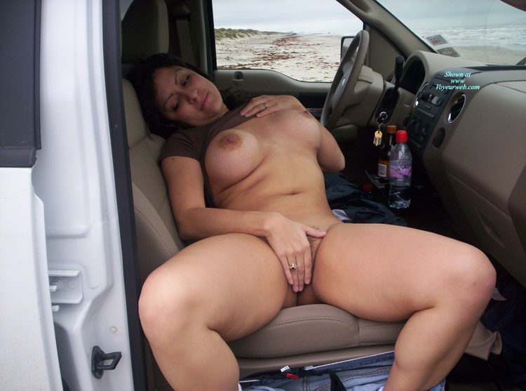 Pic #1 - Nude Milf - Black Hair, Dark Hair, Large Breasts, Milf, Naked Girl, Nude Amateur , Chunky Thighs, Black Panties And Jeans Pulled Down, No Panties, Suv Masturbation, Girl & Car, Bottomless Model In Suv