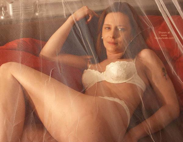 Pic #2 - Susy's Sensual Playing Behind The Net