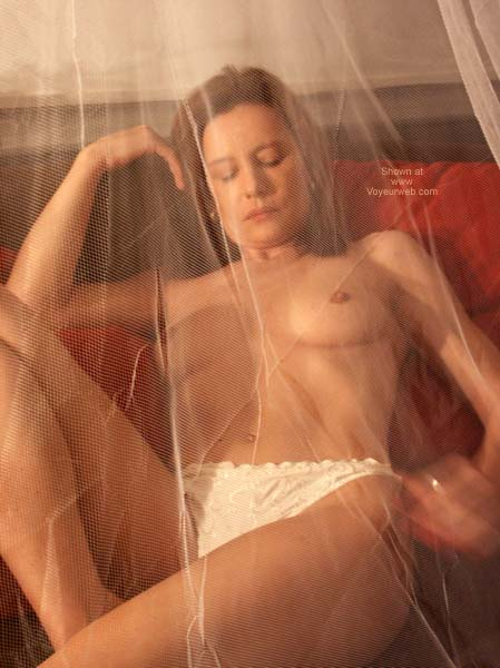Pic #5 - Susy's Sensual Playing Behind The Net