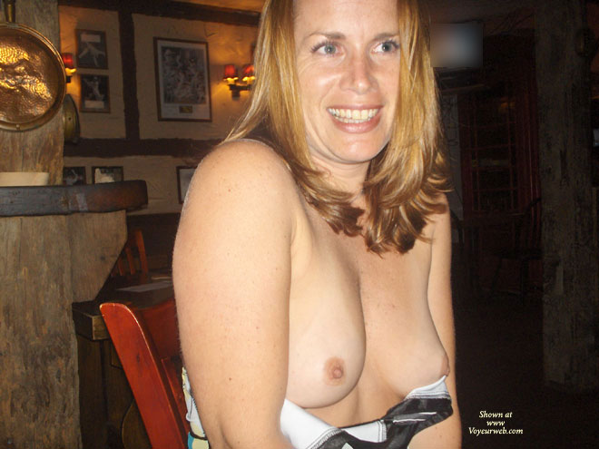 Pic #1 - Topless Milf - Blonde Hair, Blue Eyes, Erect Nipples, Flashing, Milf, Small Tits, Topless , Big Smile, Dirty Blonde, Indoor Tits, Small, Soft And Peeking Breasts, Freckles, Natural Breasts, Topless Wife, Flashing Tits