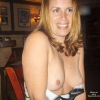 Topless Milf - Blonde Hair, Blue Eyes, Erect Nipples, Flashing, Milf, Small Tits, Topless
