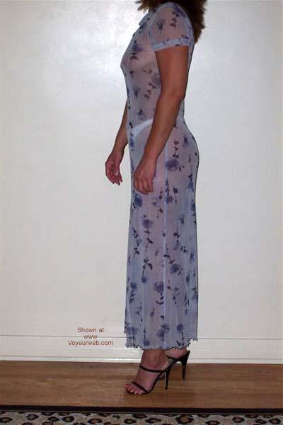 Pic #3 - Cum See Thru Cindy's Blue Dress