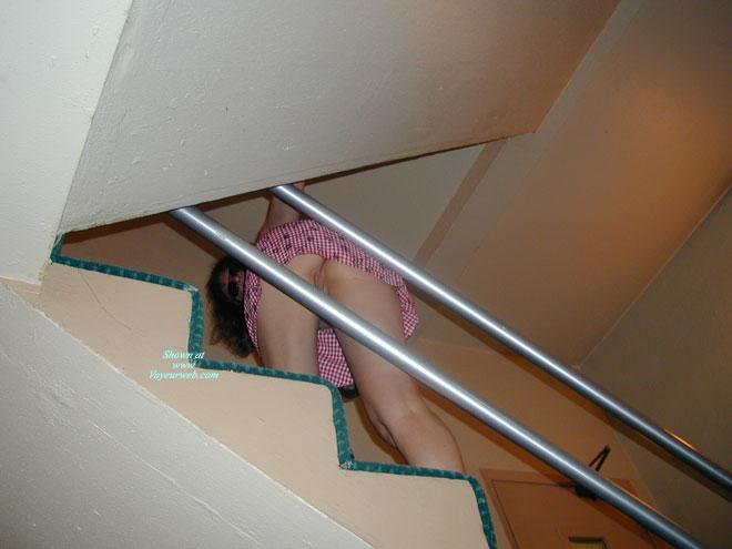Pic #1 - Flashing Pussy Upstairs - Flashing, Long Legs, Pussy Flash , Staircase Shot, Upstairs Upskirt Shot, Stairs Upskirt, No Panties, Upskirt Pussy, Upskirt View, Long Distance Shot, Peek-a-boo, Walking Upstairs Pantiless