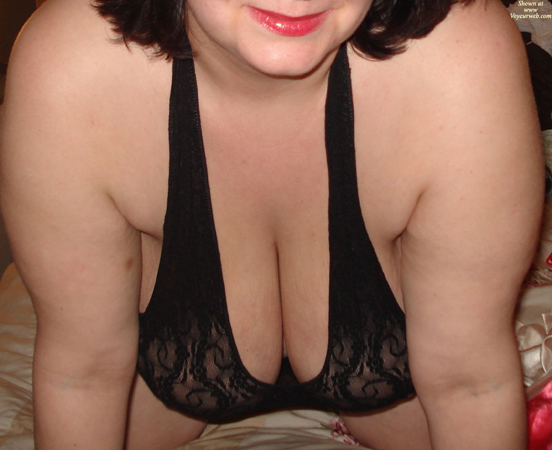 Pic #1 - Sultry BBW Wife , TV Sucked, So We Cleaned Out The Lingerie Drawer.  These Are Two Of The Sexy Outfits She Tried On For You.