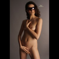 Nude Girlfriend With Dark Glasses Standing - Small Breasts, Naked Girl, Nude Amateur, Sexy Girlfriend