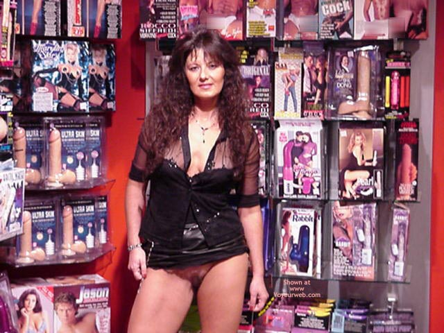 Pic #6 - Patricia Flashes More At Adult Store