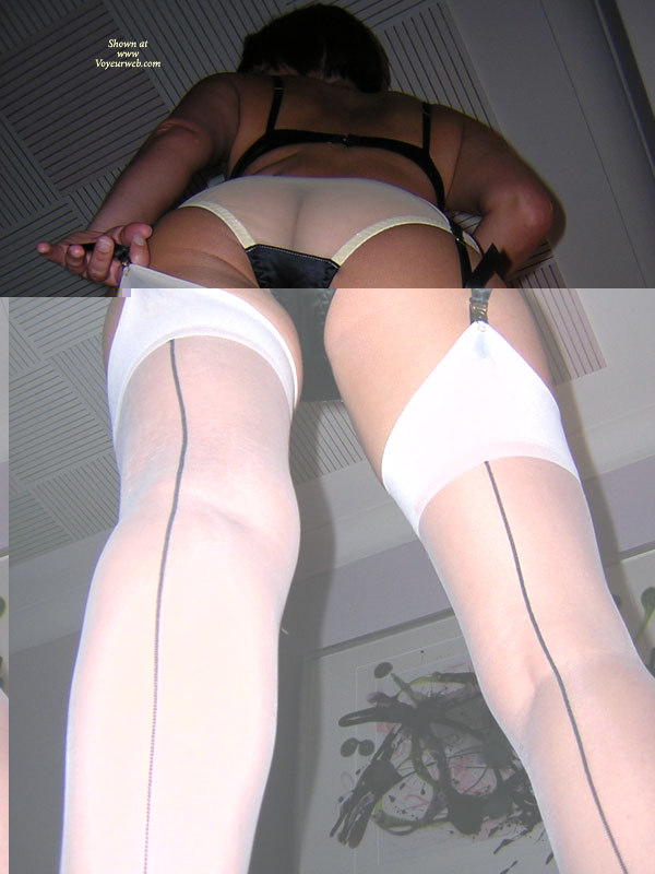 Pic #1 - White Thigh High Stockings With Black Seem - Long Legs, Stockings, Sexy Ass, Sexy Legs , Seamed Stockings, See Through Panties, Sheer White Panites, Black Bra, Garter Belt, Black Crotch Panty, White Stockings, Black Garter Belt, Whitestockings Black Seams On Tanned Beauty, See Thru Crack, Sheer Undies, White Silks Black Bra And One Hard Body, Legs All The Ways Up To Her Ass, Long Lean Legs, Sexy Ass In Sheer White Panties And Amtching Stocking With Garter Belt