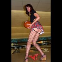 Bowling Upskirt Posed - Upskirt