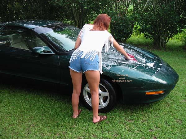 Pic #2 - Celeste Washing The Car
