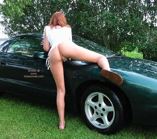 Pic #4 - Celeste Washing The Car