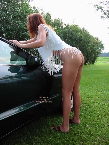 Pic #5 - Celeste Washing The Car