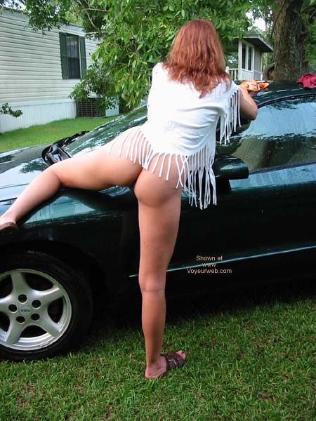 Pic #6 - Celeste Washing The Car