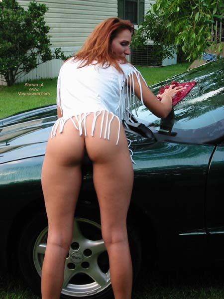 Pic #7 - Celeste Washing The Car