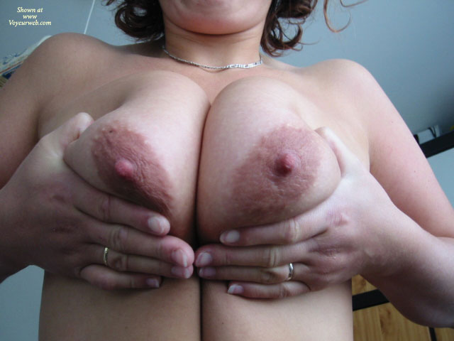 Pic #1 - Milf Pressing Her Tits Together - Milf , Two Big Tities, Presenting Her Tits, Large Oblong Aerolas, Large Tits, Closeup Squeezed Tits, Amateur Tits, Squeezed Tits, Squeezing Bigguns, Squeezing Her Tits Together, Curly Borwn Hair