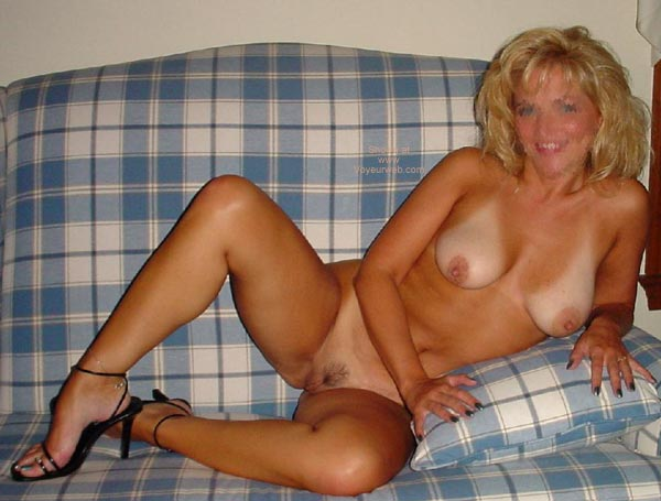 Pic #3 - Hot Wife Cassie on the Couch