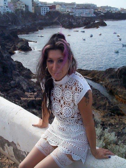 Pic #9 - See Thru Dress & Stockings Outdoors