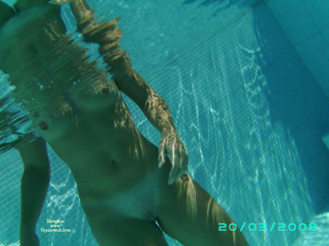 Pic #1 - Nude Underwater Shot - Hard Nipple, Small Tits, Tan Lines, Naked Girl, Nude Amateur , Pool Pussy, Underwater Nude, Full Frontal