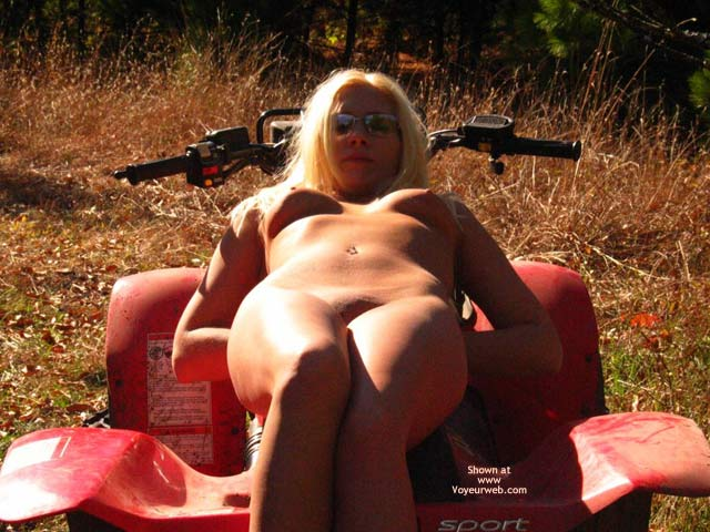Pic #1 - Outdoor Lady , Outdoor Lady, Looking At You, Nipples In The Sun Light, Nude Upshout On Atv, Sunlit Tits