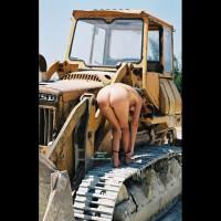 Nude Girl OnTractor - Nude Outdoors, Naked Girl, Nude Amateur
